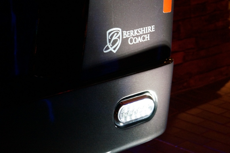 Berkshire Coach logo on the back of the recently released ULTRA 28 SERIES Intelligent Luxury group transportation solution. Image Credit: Edmund Jenks (2017)